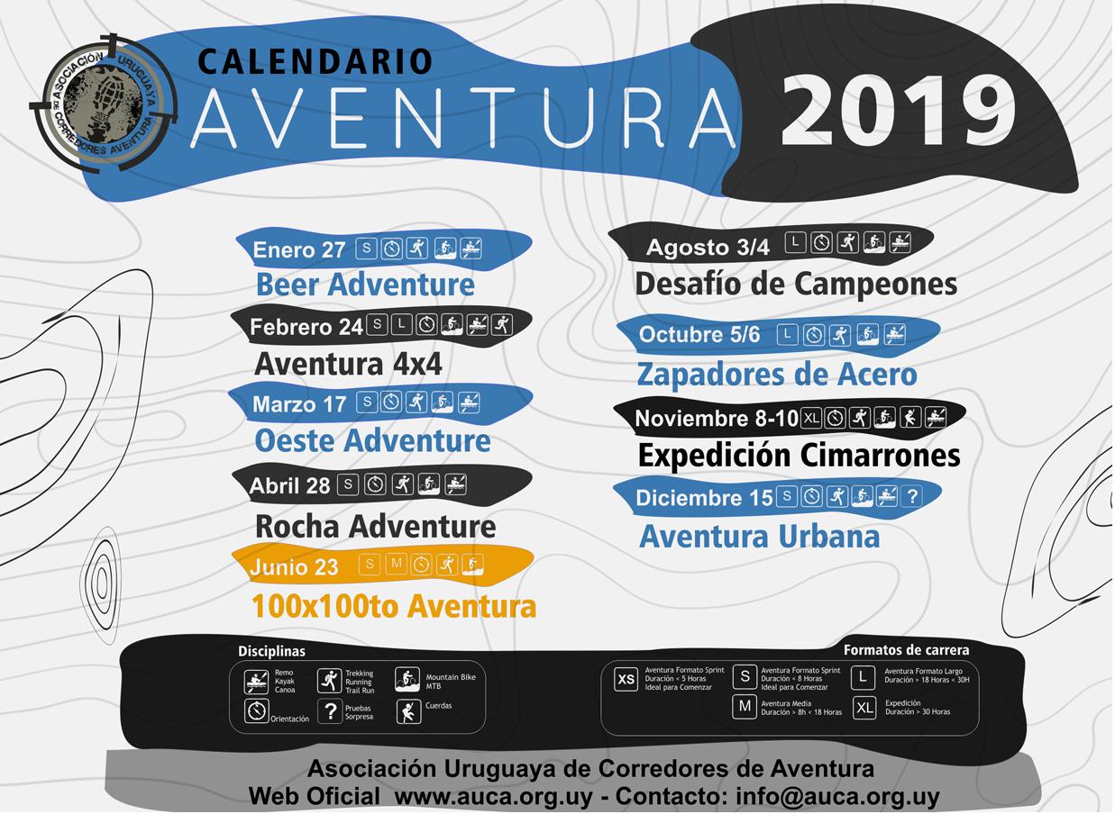 Calendario Aventura 2019 AUCA